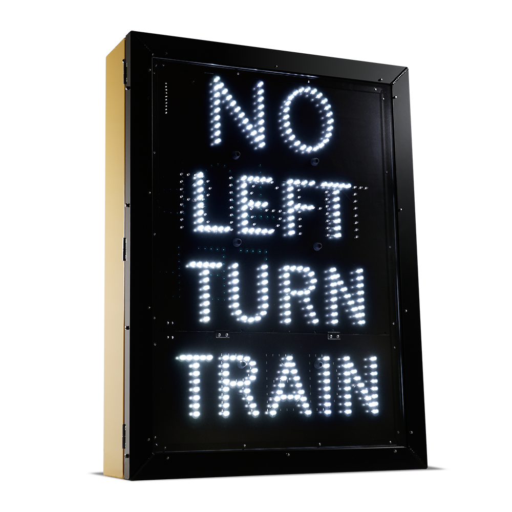 LED Intermittent Railroad Crossing Sign