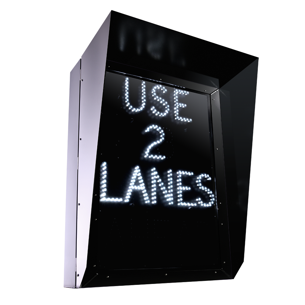 Blank Out Lane Control Sign