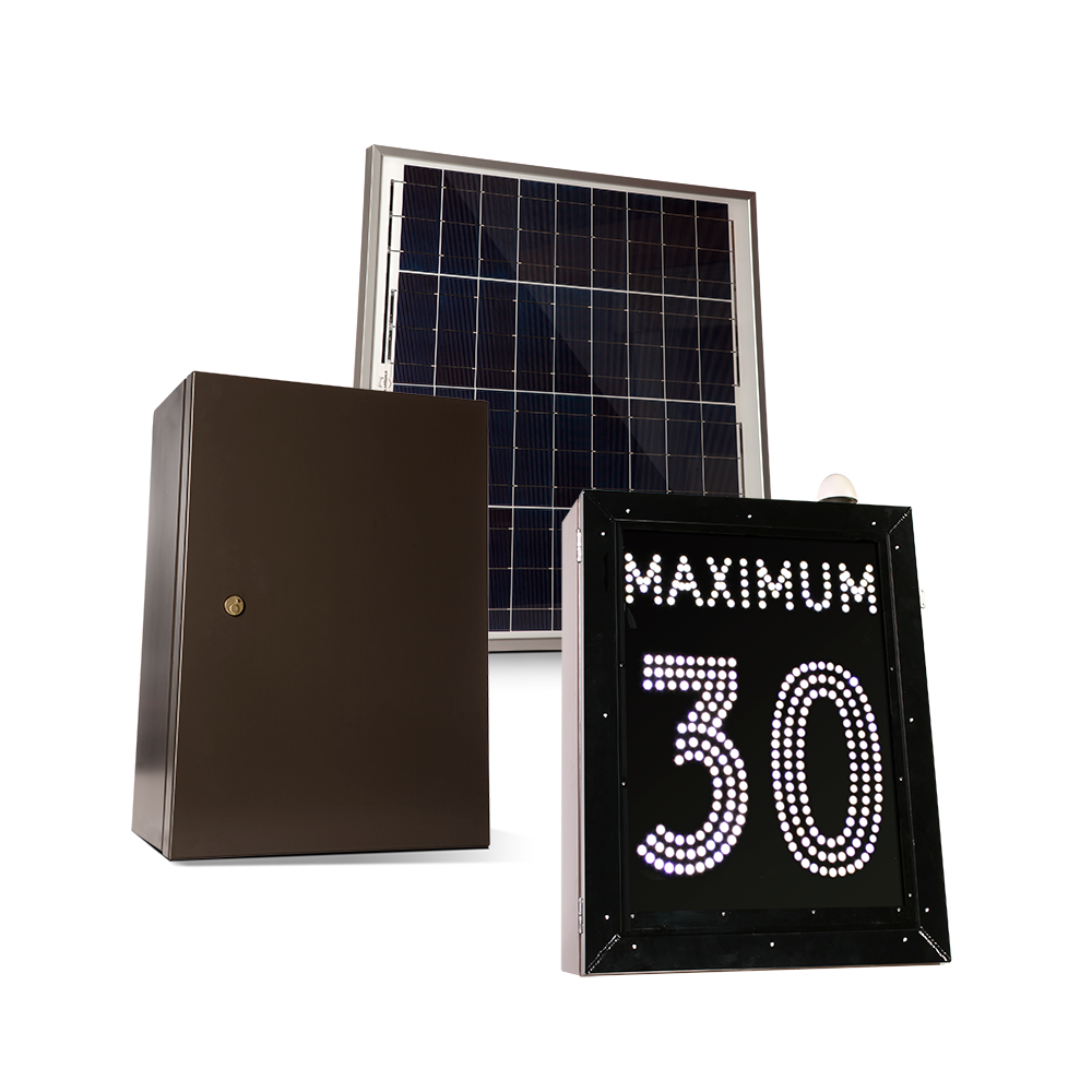 Solar-powered counting cabinet