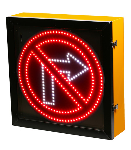 LED Blank Out Sign - No Right turn