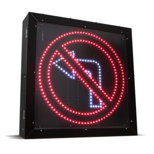 LED Blank Out Sign – No Left turn