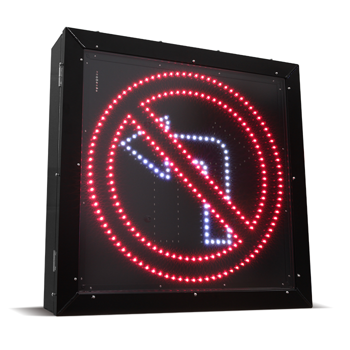 LED Blank Out Sign - No Left turn