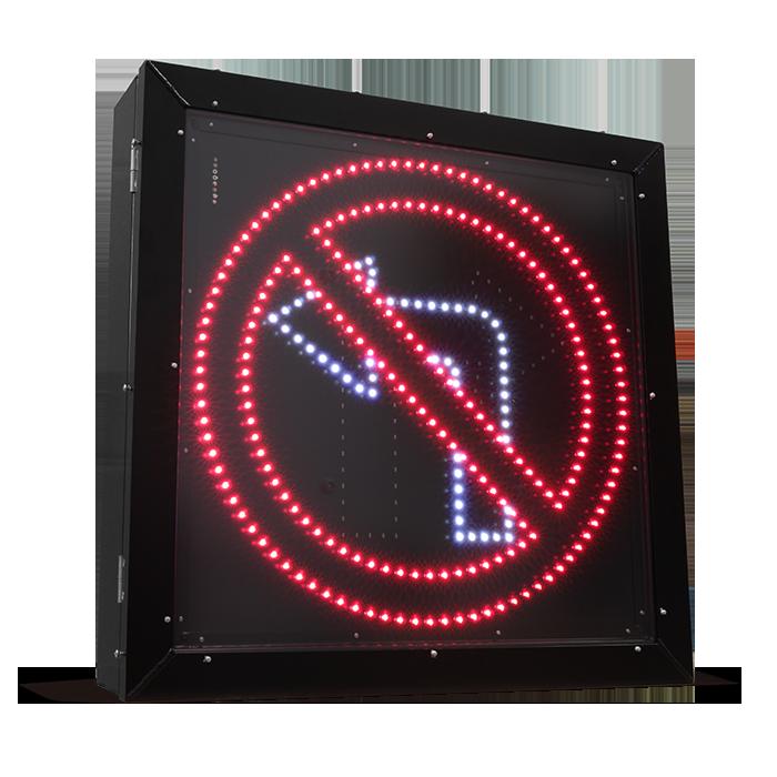 Panneau de signalisation – Virage à gauche interdit