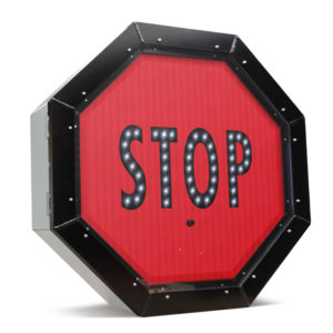 "LED Blank Out Sign – Stop sign ""STOP"" or ""HOLD"""