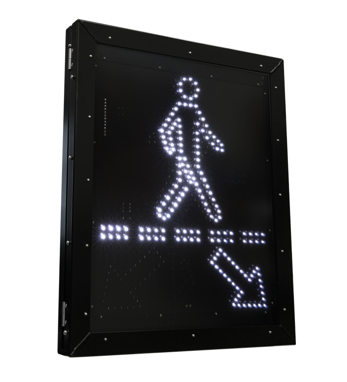 Pedestrian Crossing LED Blank Out Sign