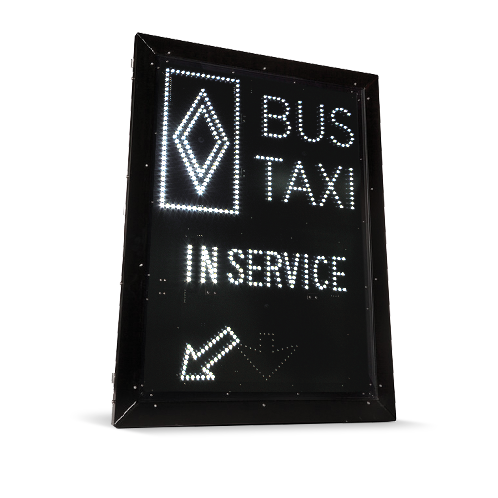 Reserved Bus/Taxi Lane Sign - LS3648-P250-BUS