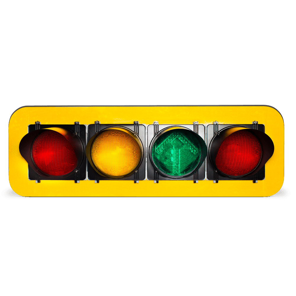 Polycarbonate-Framed Horizontal Traffic Signals
