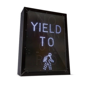 Lit LED Road Signs